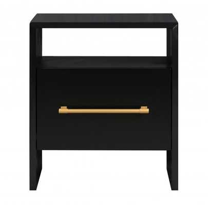 Libre Black Nightstand - Maren Home