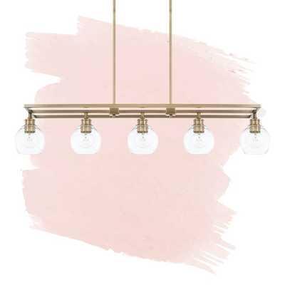Evan 5 - Light Kitchen Island Linear Pendant - Wayfair