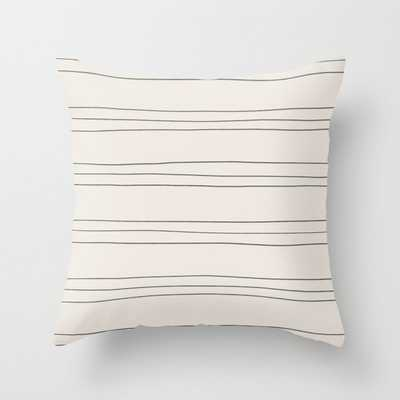 pencil stripe Throw Pillow - Society6