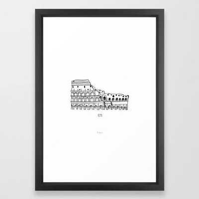 "Roma Frame Art Print by Rachel Watson Pattern - 15"" x 21"" - Vector Black Frame - Society6"