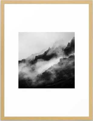 Foggy Mountains Black and White Framed Art Print - Society6