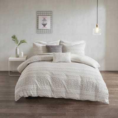 Flemington Cotton Clip Jacquard Duvet Cover Set - Wayfair