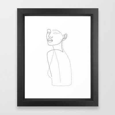 Lordly Girl Framed Art Print - Society6