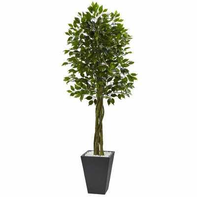 Artificial Floor Ficus Tree with Planter - Wayfair
