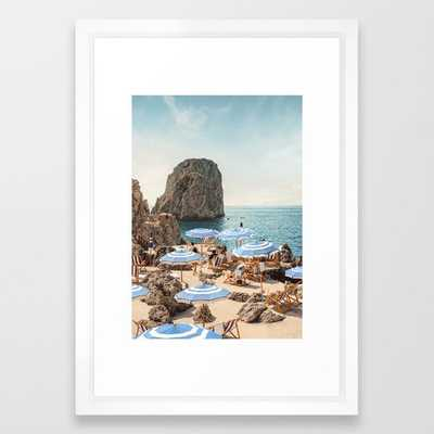 La Fontelina Framed Art Print - Society6