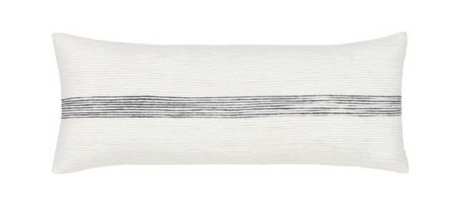 SELMA LUMBAR PILLOW, CREAM AND CHARCOAL- POLYESTER INSERT - Lulu and Georgia