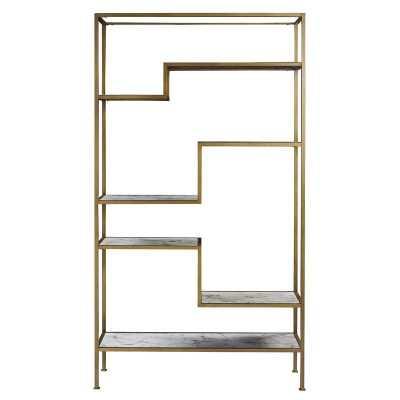 Borst Geometric Bookcase - Wayfair