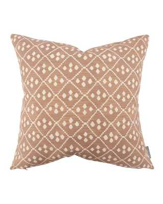 "WARWICK DIAMOND PILLOW WITHOUT INSERT, 20"" x 20"" - McGee & Co."