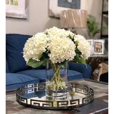 Hydrangeas Floral Arrangement in Vase - Birch Lane