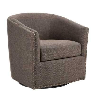 "Leominster Swivel 19.5"" Barrel Chair - Wayfair"