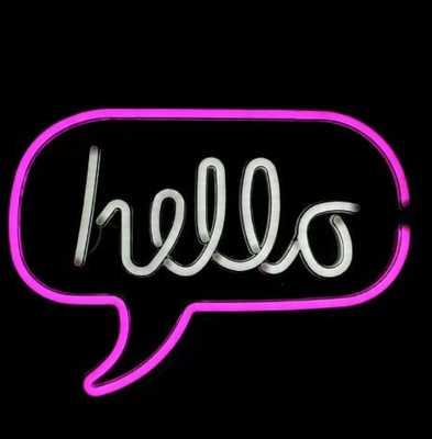 Neon Style Hello Bubble LED Neon Sign - Wayfair
