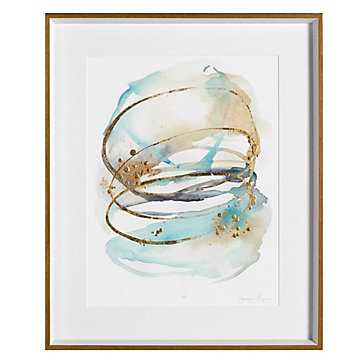 Spiral Bloom Aqua 2 - Limited Edition - Z Gallerie