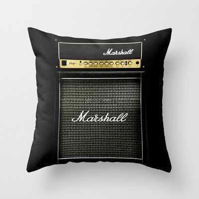 Gray amp amplifier Throw Pillow - Society6