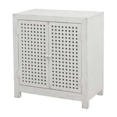 Isherwood Pierced Grid 2 Door Accent Cabinet - Wayfair