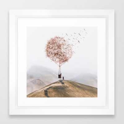 Flying Dandelion - Vector White - Society6