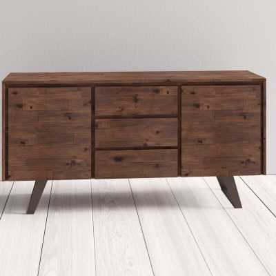 "Midway 60"" Wide 3 Drawer Acacia Wood Buffet Table - AllModern"