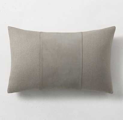 """SUEDE CENTER BAND PILLOW COVER BY KELLY HOPPEN - LUMBAR - 13"""" X 21"""" - RH"""