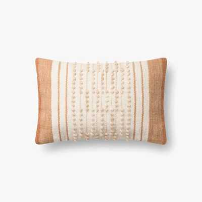 "P4103 Ed Rust / Natural Pillow, 13"" x 21"", with Poly Fill - Loma Threads"