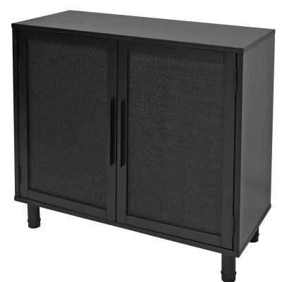 Delancey 2 Door Accent Cabinet, Black (restock 6/7/21) - Wayfair