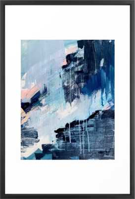 Vibes: an abstract mixed media piece in blues and pinks by Alyssa Hamilton Art Framed Art Print - Society6