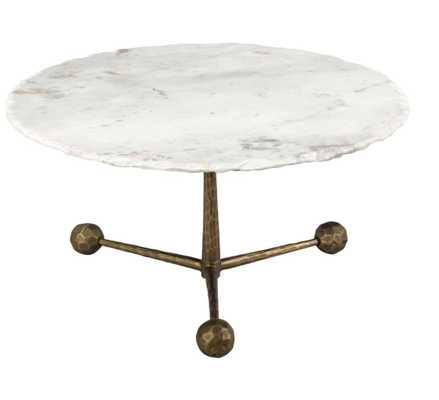 Celeste white marble coffee table - Maren Home