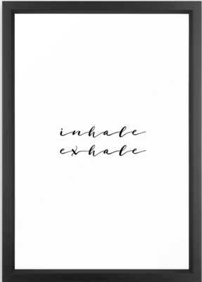 Yoga Print Relax Print Inhale Exhale Just Breathe Meditation Art Yoga Quotes Yoga Art Inspirational Framed Art Print - Society6