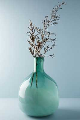 Green Glass Jug Vase - Anthropologie