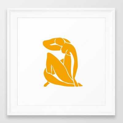 Matisse in Gold Framed Art Print - Society6