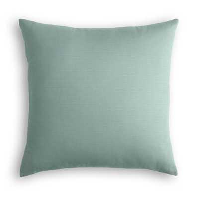 "Outdoor Pillow - Sunbrella® Canvas - Spa - 18""x18"" - no insert - Loom Decor"