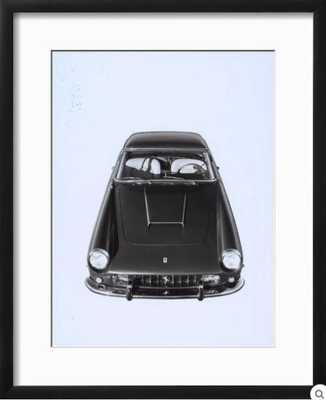 FRONTAL AND TOP VIEW OF A FERRARI AUTOMOBILE - art.com