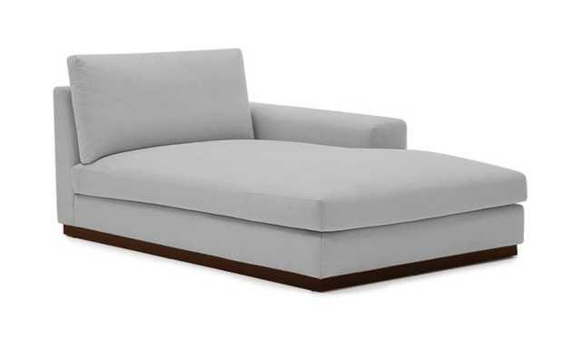Holt Mid Century Modern Single Arm Chaise - Milo Dove - Mocha - Right - Joybird