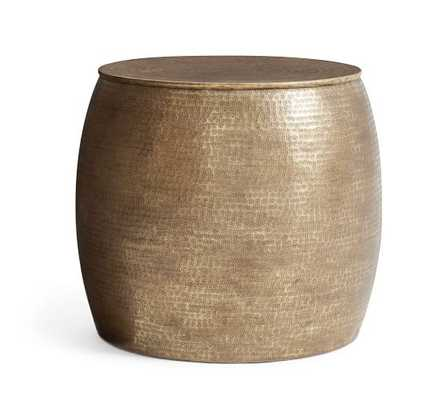 BERMUDA HAMMERED BRASS SIDE TABLE - Pottery Barn