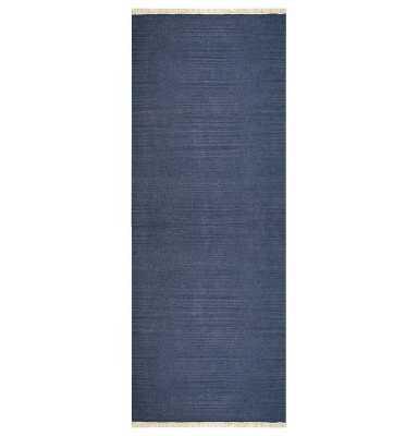 Andover Hand-Woven Wool Blue Area Rug (Runner) - Wayfair
