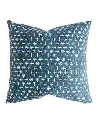 """NEWPORT CROSS PILLOW WITHOUT INSERT, 24"""" x 24"""" - McGee & Co."""