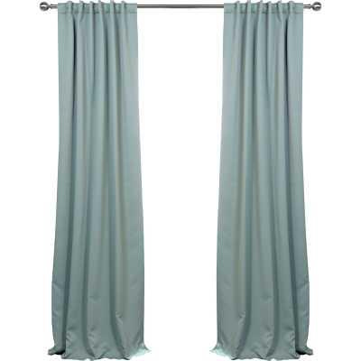 "Cairo Solid Color Room Darkening Rod Pocket Curtain Panels (Set of 2) - Juniper Berry, 50"" x 108"" - Wayfair"