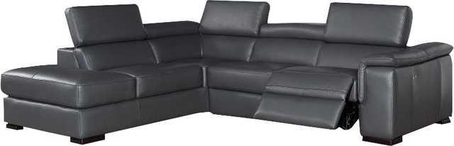 Catawissa Leather Reclining Sectional - Wayfair
