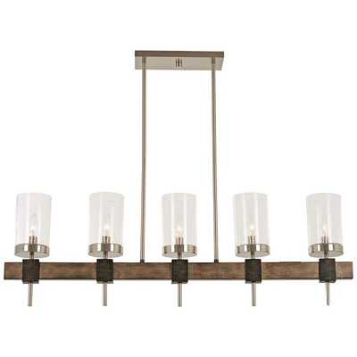 """Bridlewood 40""""W Gray and Nickel Kitchen Island Light Pendant - Lamps Plus"""