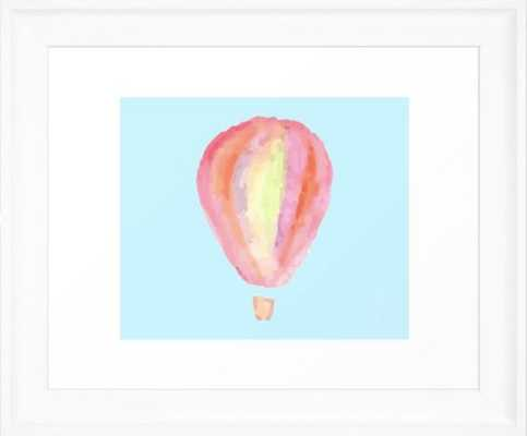 """Abstract Hot Air Balloon, 10""""x12"""", Scoop White Frame - Society6"""