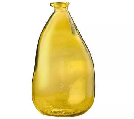 """Oblong Recycled Glass Balloon 14"""" Vase, Green - Vivaterra - Target"""