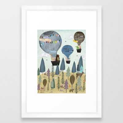 a little woodland adventure Framed Art Print - Society6