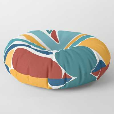 """Aida II Round Floor Pillow - 26"""" x 26"""" by Design by B - Society6"""