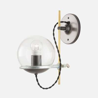 Orbit Sconce - Black - Black Cord - Clear Shade - Schoolhouse Electric