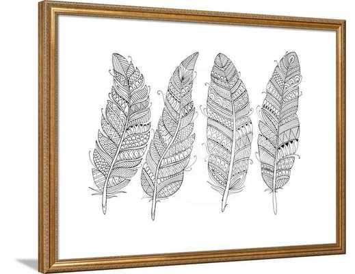 """Feather Art - Prague Bronze 2.25"""" - art.com"""