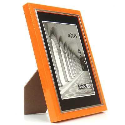 Modern Colorful Sleek Picture Frame - Orange - Wayfair