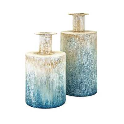 Thady Metal Vases - Set of 2 - Mercer Collection