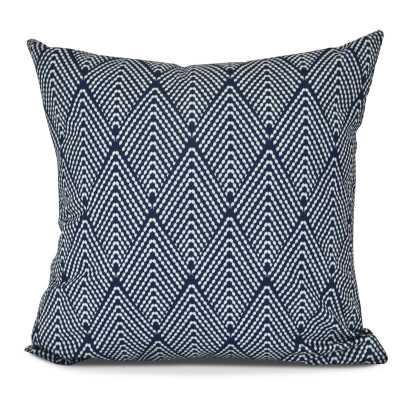 "Michiel Geometric Throw Pillow / Navy Blue/ 18"" x 18"" - AllModern"
