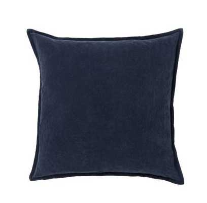 "Eduarda Velvet Cotton Throw Pillow Cover 20"" x 20"" - Birch Lane"