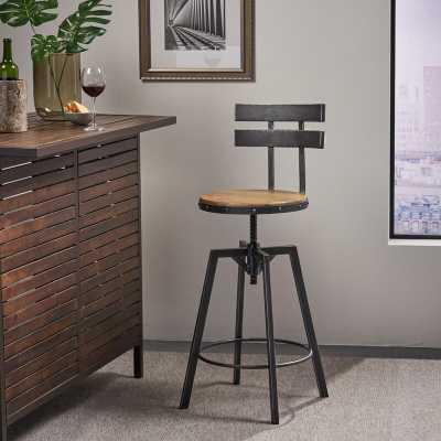 Sylvania Swivel Adjustable Height Bar Stool - Wayfair