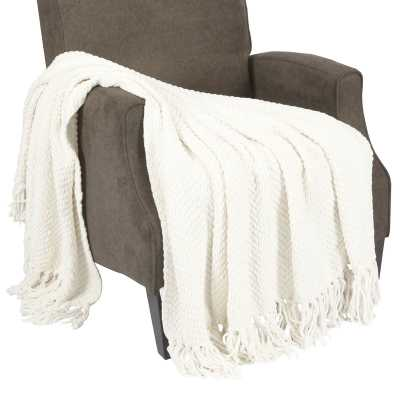 Nader Tweed Knitted Throw Blanket - Wayfair