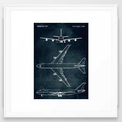 BOEING 747 - First flight 1969 Framed Art Print - Society6